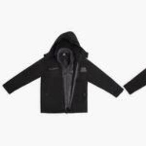 Reebok Kid's Zipper Jacket - Black/Gray - Size: 4